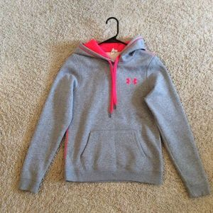 Gray and Pink Under Armor Hoodie